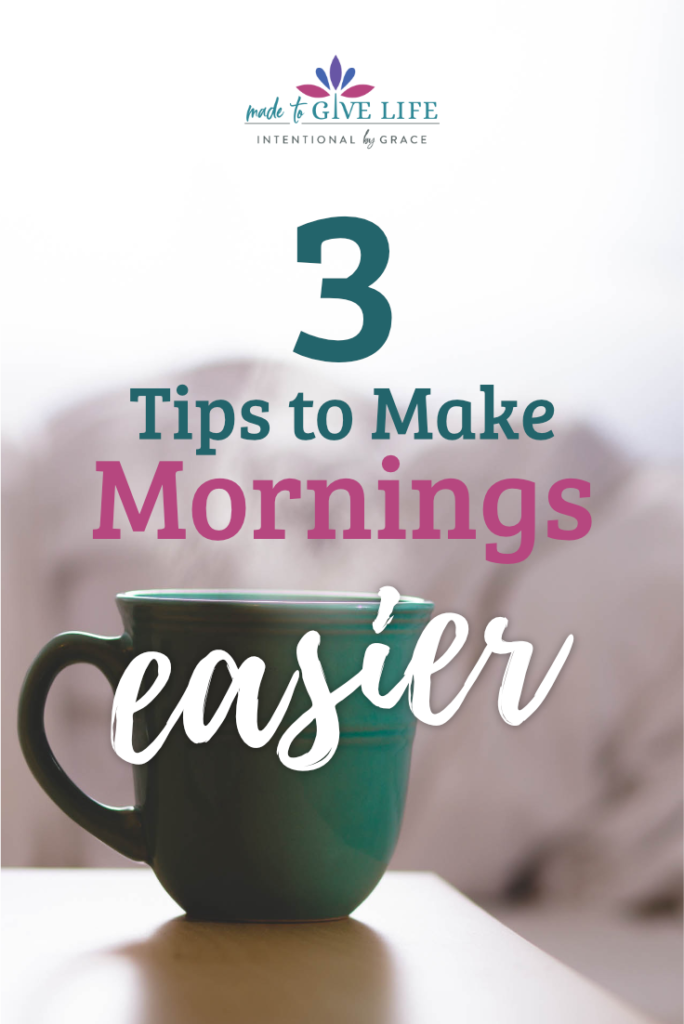 Rising early in the mornings can be hard. Here are 3 tips to be intentional to make early mornings easier. | Intentionalbygrace.com