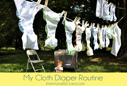 my cloth diaper routine
