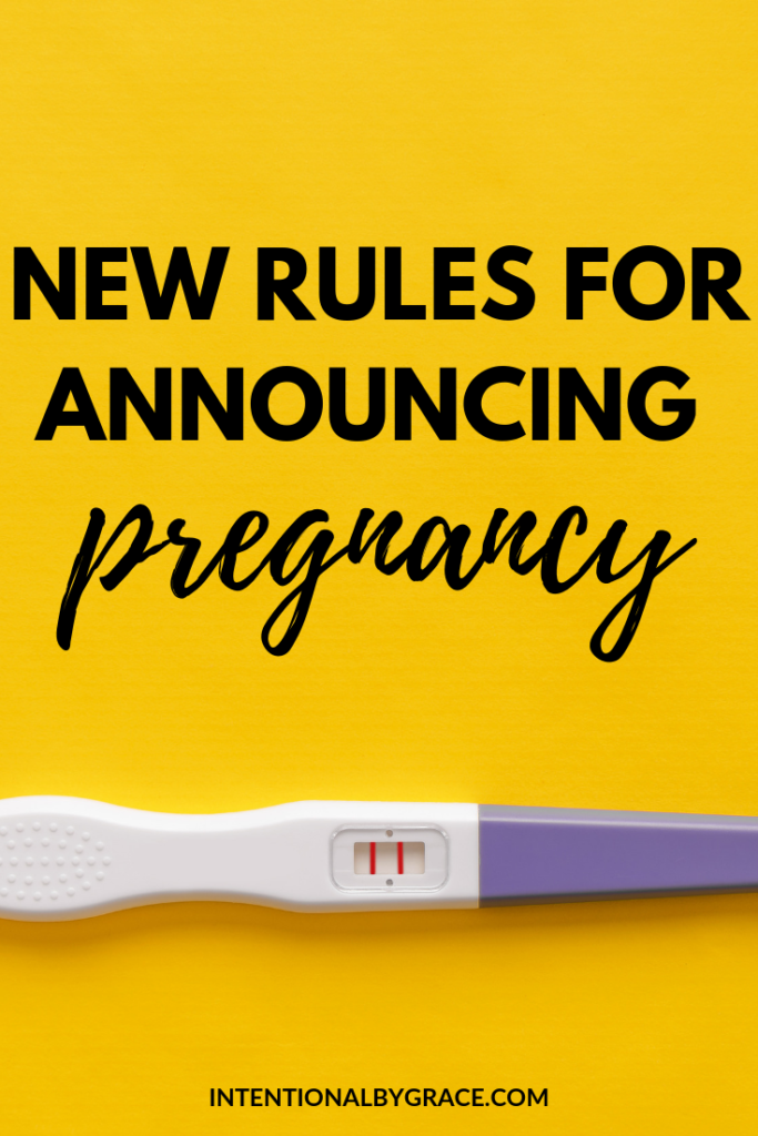 Here are the new rules for announcing a pregnancy.