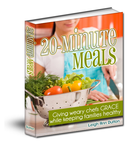 20 Minute Meals 3D Book Cover