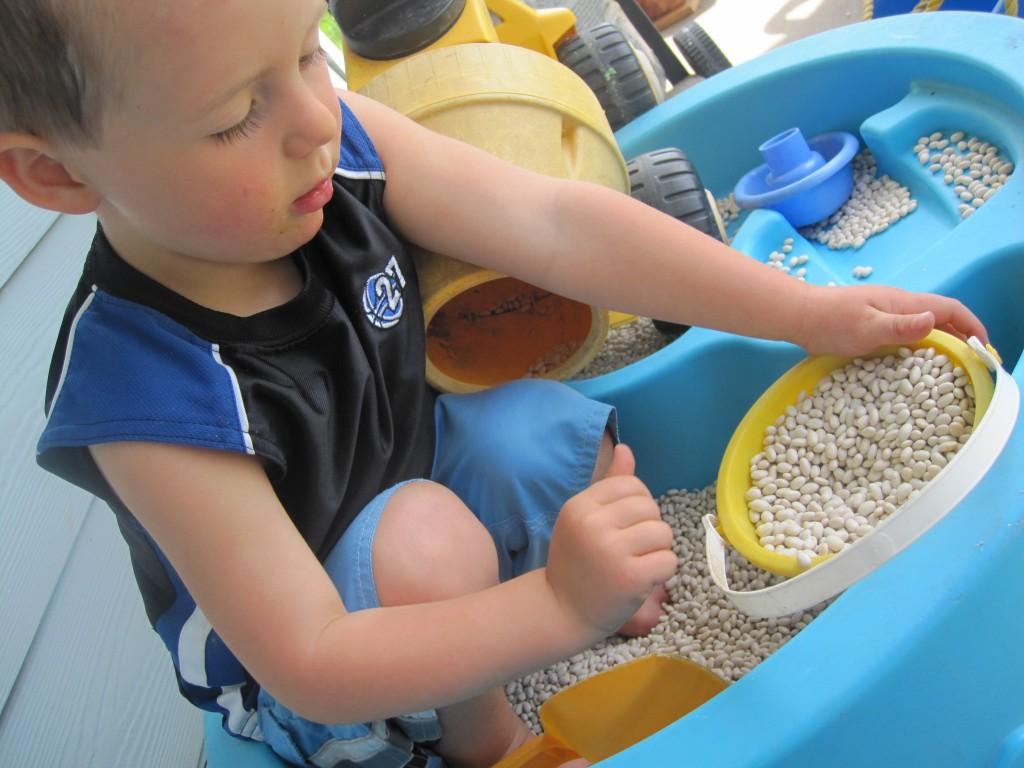 Preschool Outdoor Activities: Beans