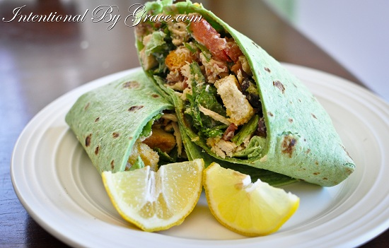 20 minute meal chicken caesar wrap-1