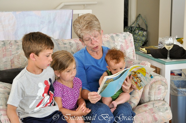 Mother-in-love with her grandbabies