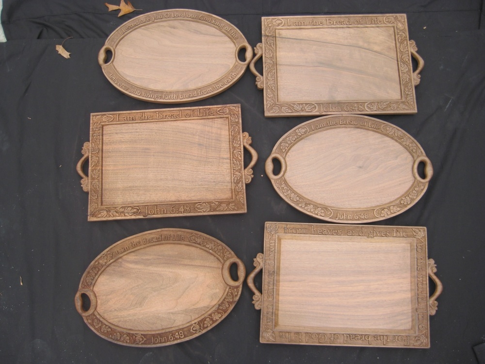 Custom Hand-Carved Bread Trays Giveaway