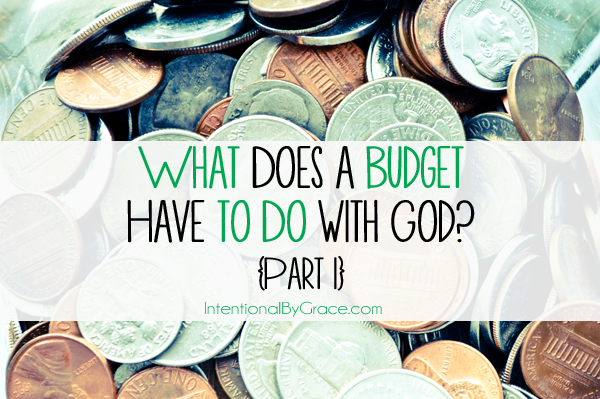 what does having a budget have to do with God?