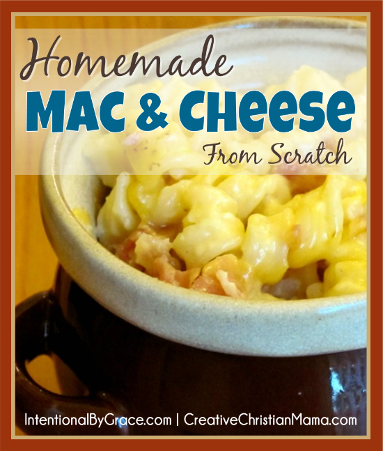 Mac and cheese is the ultimate comfort food but it is often highly processed so learn how to make it from scratch with this homemade version! - Intentional By Grace