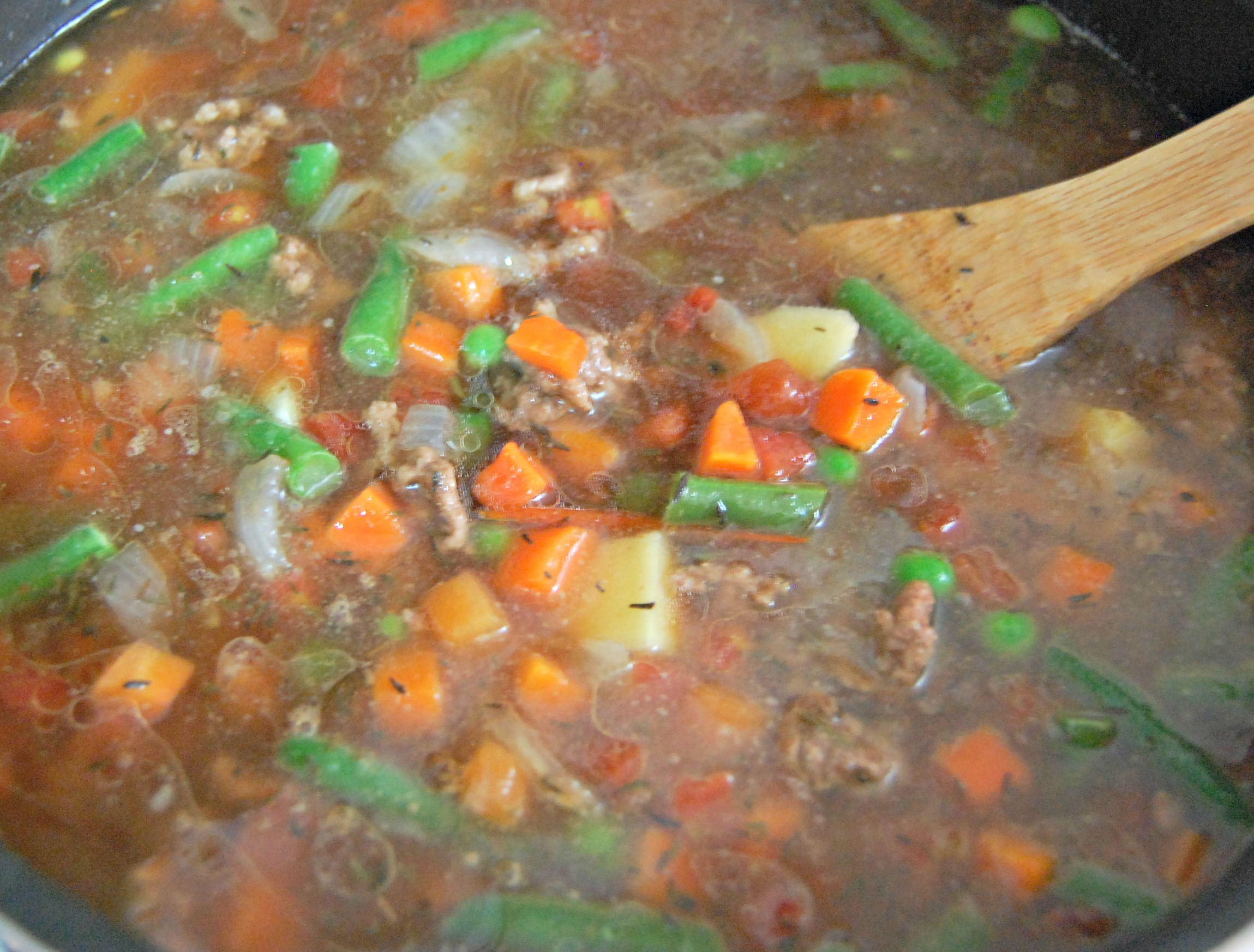 Hamburger Vegetable Soup - Freezer Cooking - Intentional By Grace