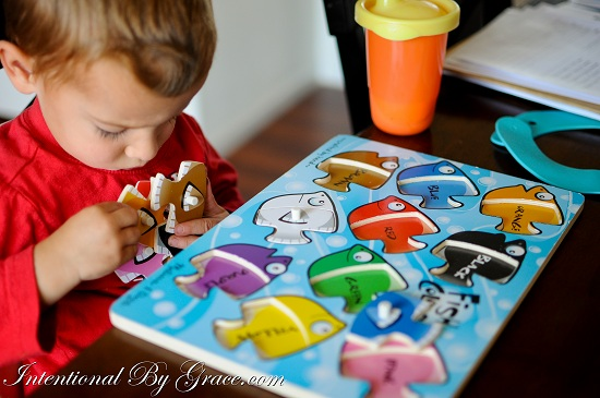 Fish Puzzle- doing preschool at home and how to do it