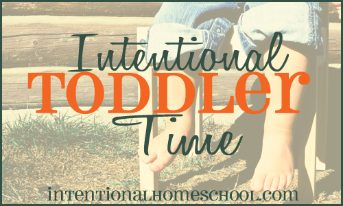 intentional toddler time weekly update