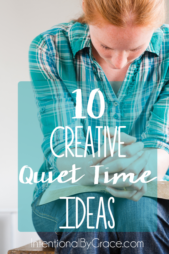 10 creative quiet time ideas for when your quiet times aren't so quiet. This is great for moms of little ones!