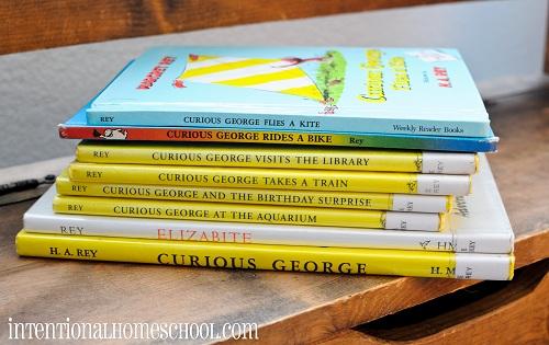 reading aloud Curious George Books