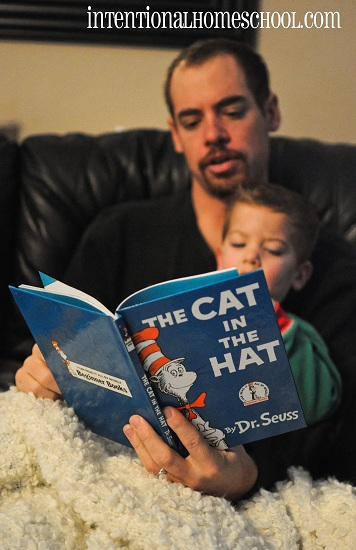 Reading The Cat in the Hat with Daddy