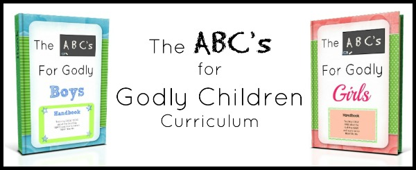 The ABC's for Godly Children Review & Giveaway {Intentional Homeschool}