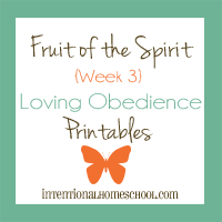 Fruit of the Spirit loving obedience