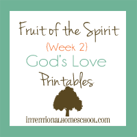 Fruit of the Spirit God's love printabes