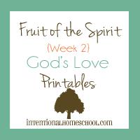 Fruit of the Spirit God's love printabes
