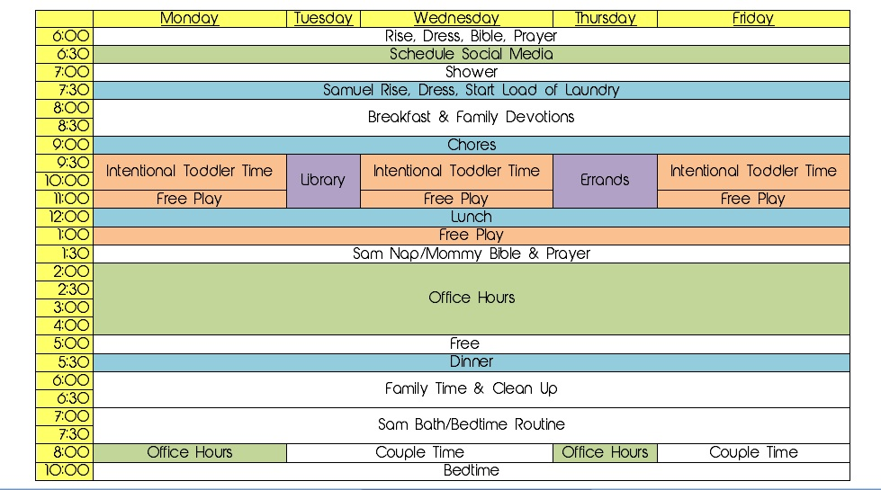 A simple schedule and routine will help with how to keep your house clean, especially with toddlers underfoot. | IntentionalByGrace.com