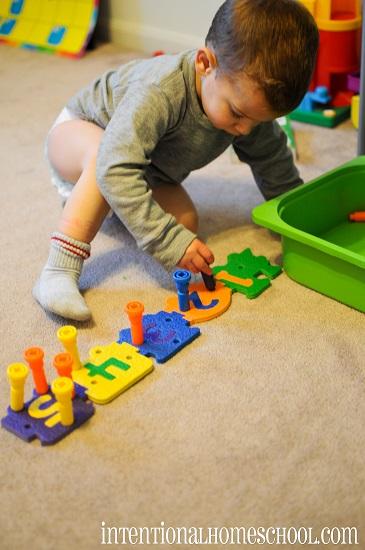 toddler tray idea