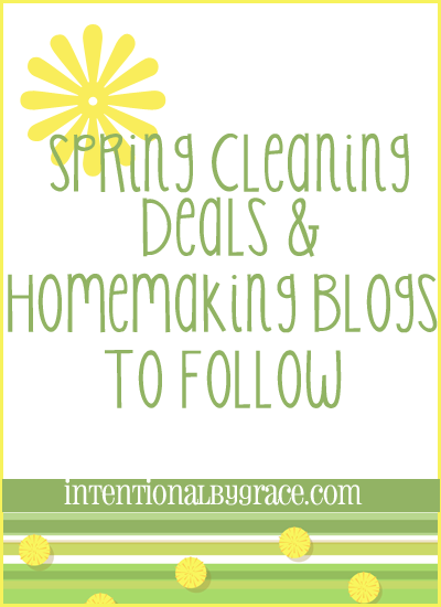 spring cleaning deals and homemaking blogs to follow