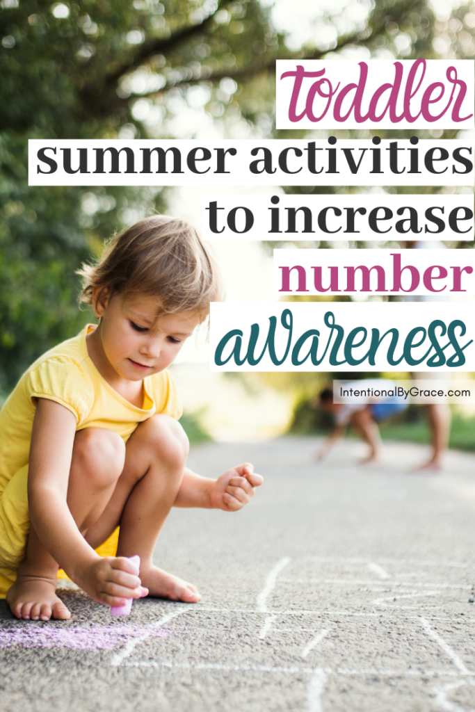 15 days of intentional summer toddler activities. Day 2 is all about learning about numbers and increasing number awareness.