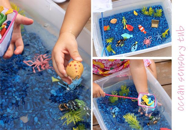 Sensory and Water play activities for preschoolers