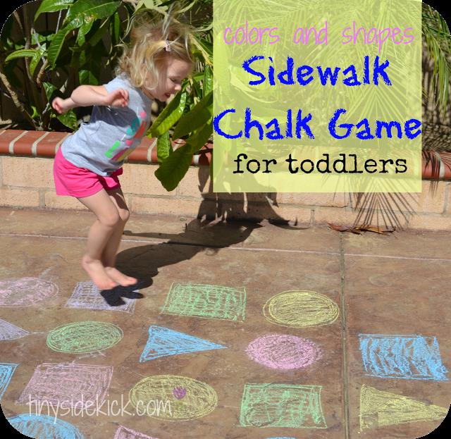 outdoor sidewalk chalk game