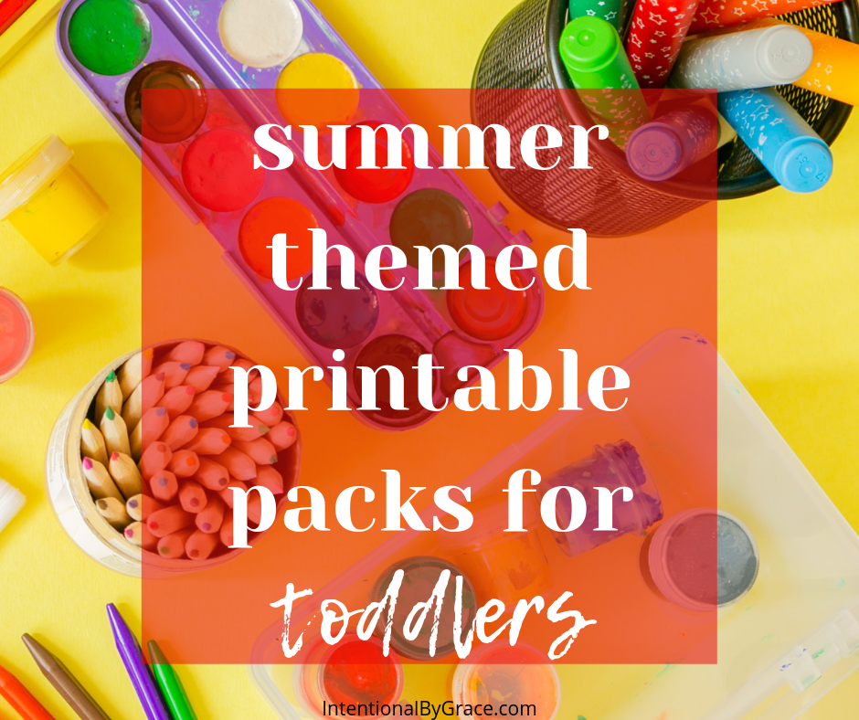 Summer themed printable packs for toddlers!