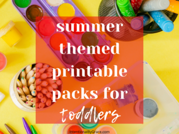 6 summer themed printable packs for toddlers