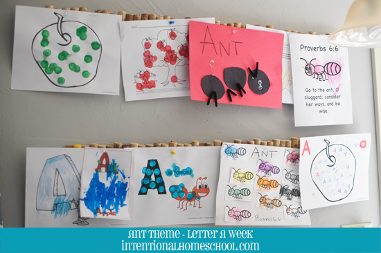 ant theme letter A week