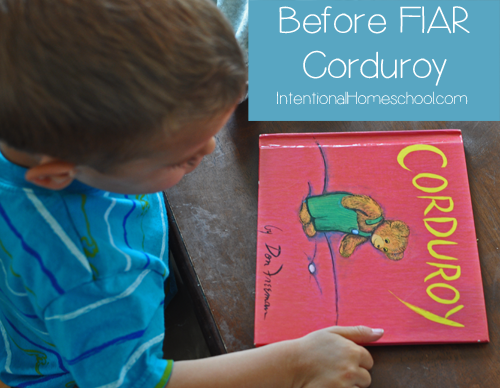 before five in a row - corduroy
