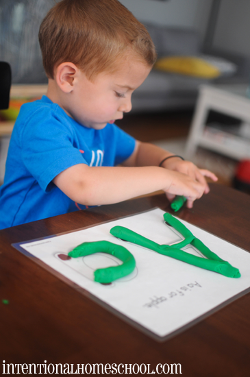 playdough work with letter a