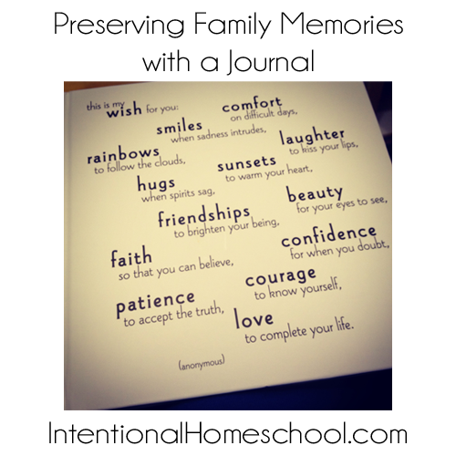 preserving family memories with a journal