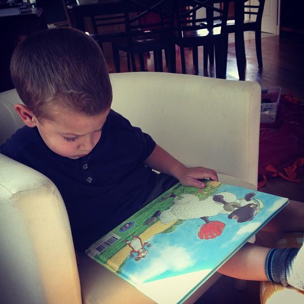 sam reading books