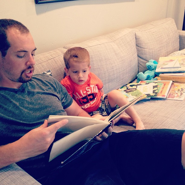daddy reading stories