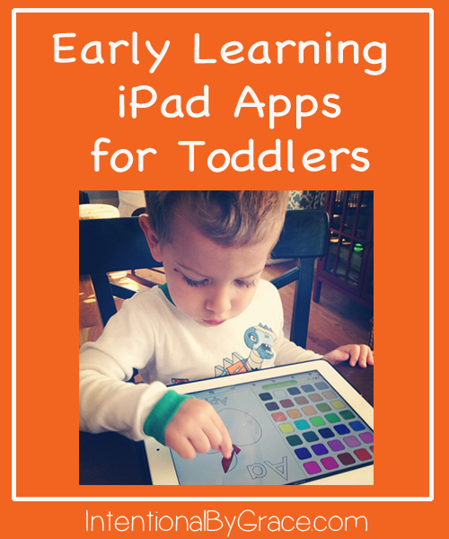 Early Learnig iPad apps for toddlers and preschoolers