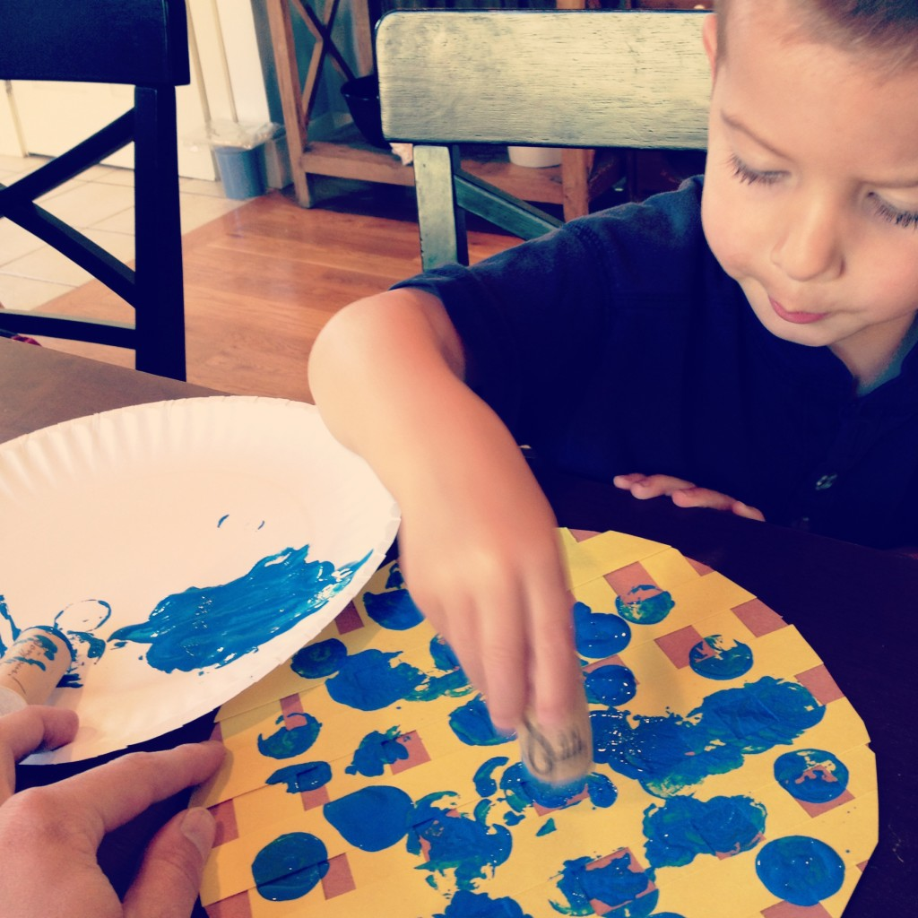 easy blueberry craft