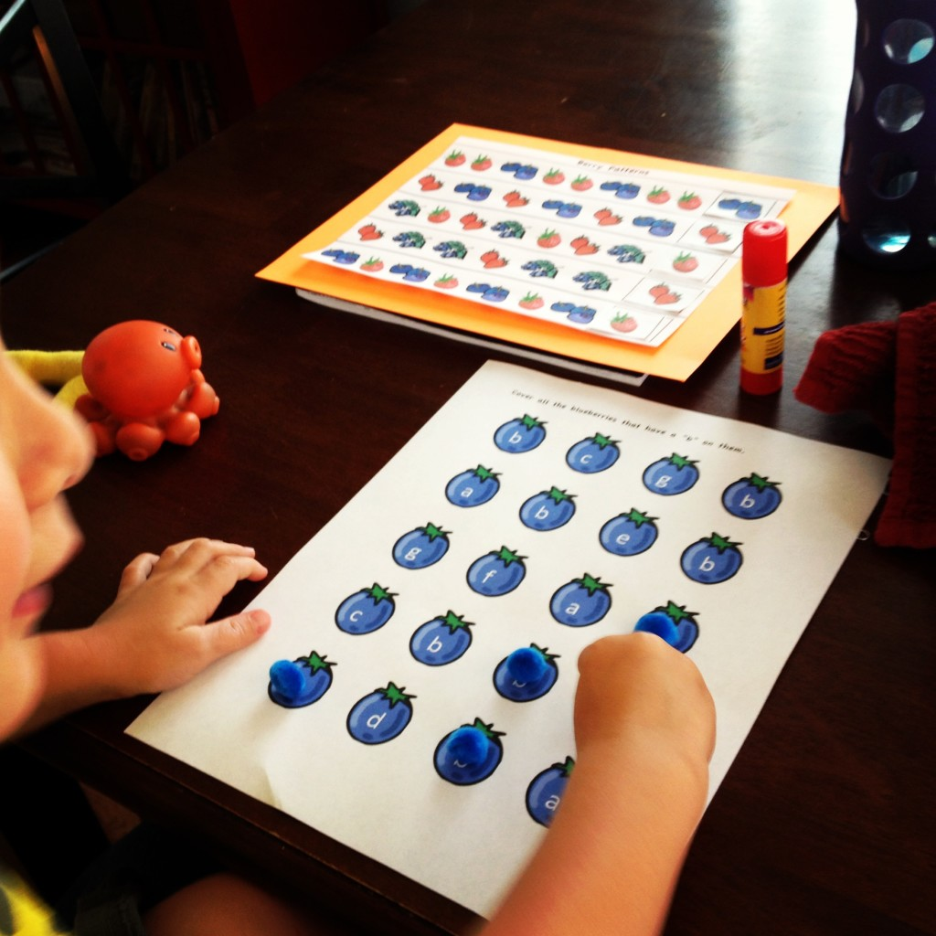 blueberries for sal activity