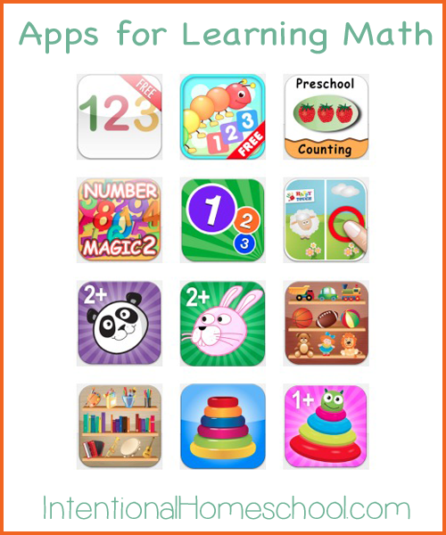 early learning apps for learning math for toddlers and preschoolers