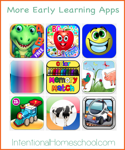 more early learning apps for toddlers and preschoolers