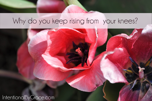 why do you keep rising from your knees