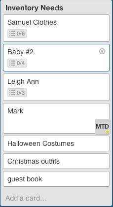managing my home with trello