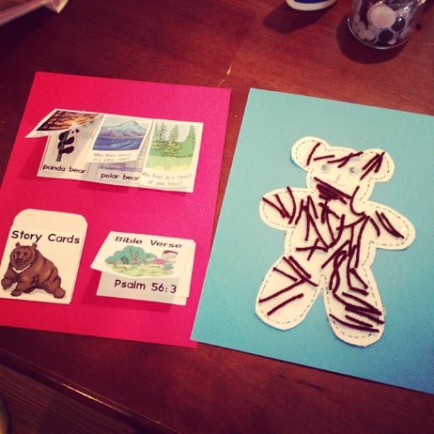 lapbook bear theme