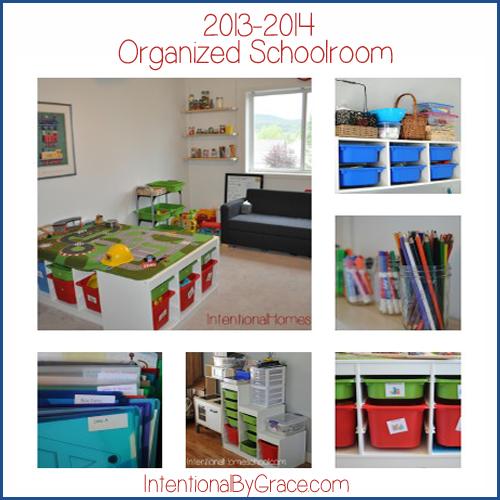 organized homeschool room