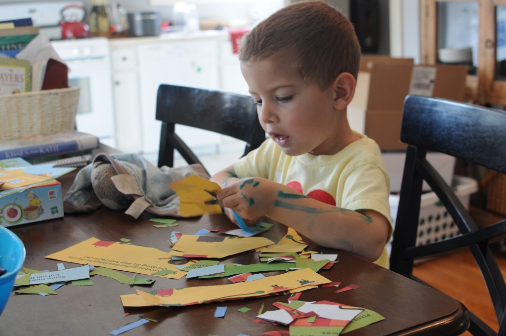toddler with scissors and The benefits of not going to preschool