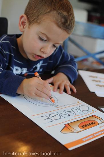 coloring pumpkin orange