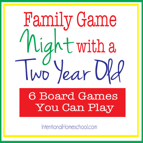 ideas for a family game night with a two year old