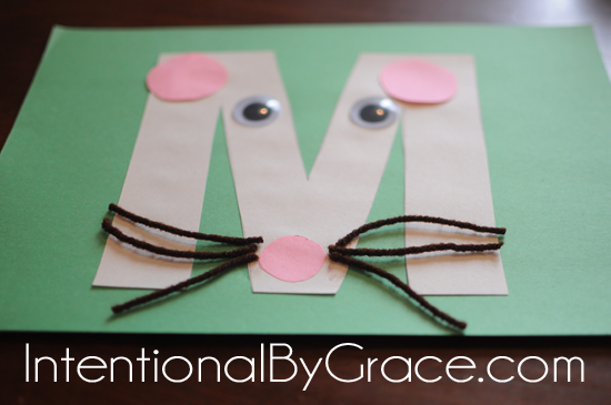 letter m craft mouse