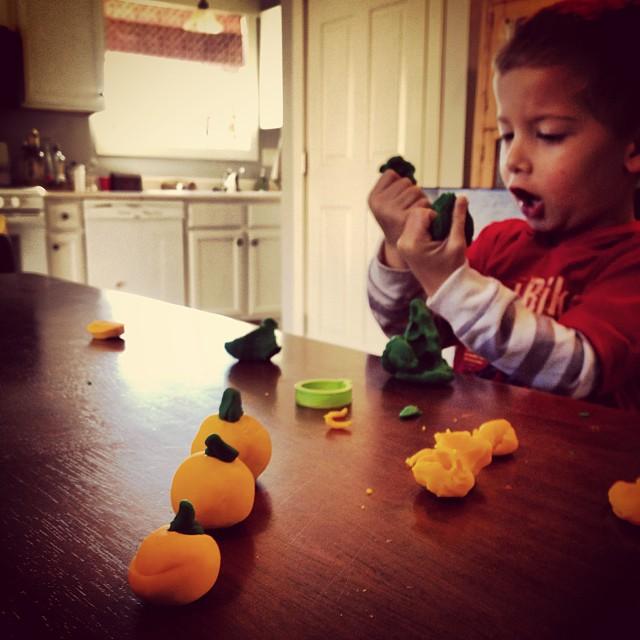 playdough pumpkin patch