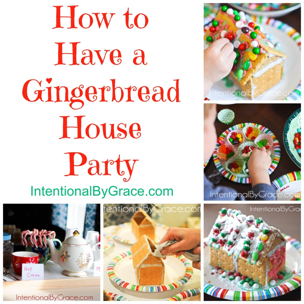 How to Have a Gingerbread House Party Intentional By Grace – Gingerbread Party Invitations