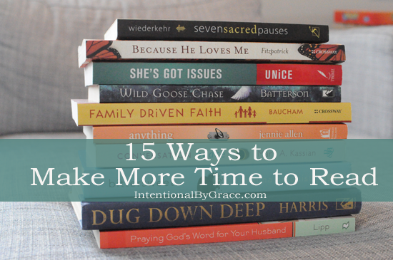 15 ways to make more time to read